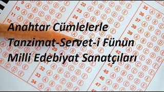 Tanzimat-Servet-i Fünun-Milli Edebiyat Sanatçıları Soru Cevap Tekrar