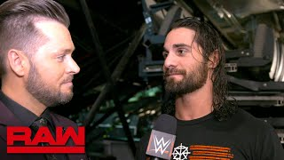 Seth Rollins wants a rematch with Finn Bálor: Raw Exclusive, March 19, 2018