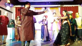 Ude jab jab zulfen teri....Friends dancing for Marriage Anniv. celebration !!!