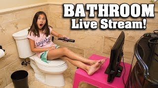 BATHROOM LIVE STREAM!!! Answering Your Questions on the Toilet!