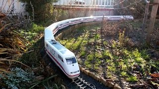 Very long LGB ICE train! --- LCE auf der Gartenbahn... von Lehmann
