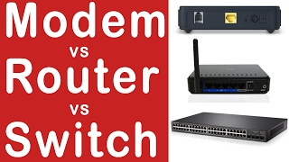 Modem vs Router vs Switch l Explained in Hindi !