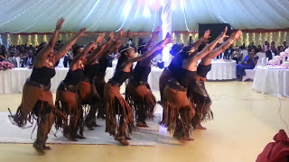 Inganzo Ngari Cultural troup performing at Emery & Ines Wedding