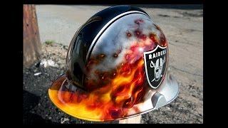 How To Airbrush Fire on a Custom Fireman Helmet