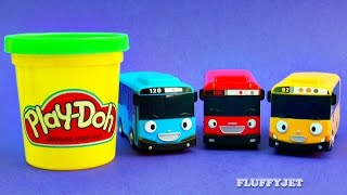 Learn Colors with Tayo the Little Bus and Play Doh Surprise Eggs for Kids 작은 버스 타요
