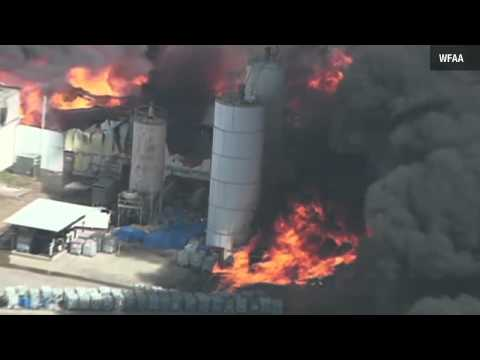 Texas chemical plant fire October 3, 2011