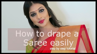 How to drape a Saree easily | Vithya Hair and Make up Artist