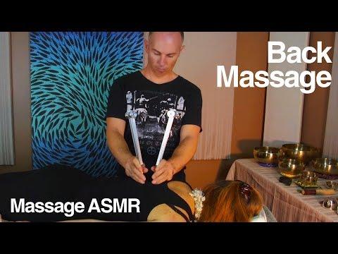 ASMR Back Massage for Lower & Upper Back Weighted Tuning Forks