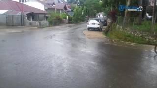 Suasana di 'Tikungan Maut' Rantepao Toraja Utara