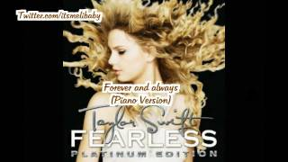 Taylor Swift Forever And Always Piano Version Lyrics