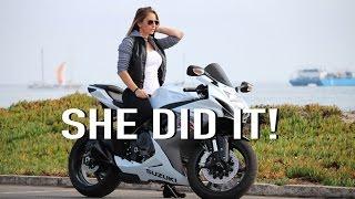 girlfriend rides my gsxr600