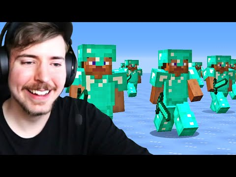 I Got Hunted By 100 Players in Minecraft