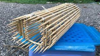 Primitive Bamboo Fish Trap How To Make Mini Primitive Fish Trap / Survival