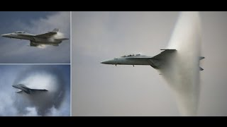 An incredible SONIC BOOM is created by military jet