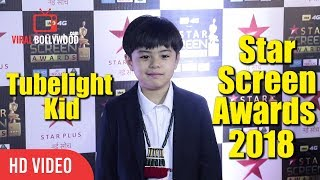 Matin Rey Tangu At Star Screen Awards 2018 | Tubelight Kid | Viralbollywood