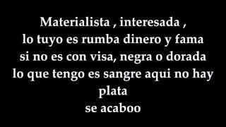 Materialista Letra - Nicky jam ft Silvestre Dangond