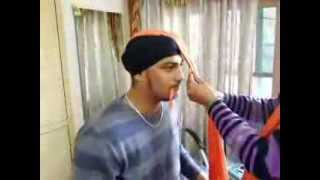how to tie a turban(Punjab Pagri Coaching Centre Moga) 9878611906