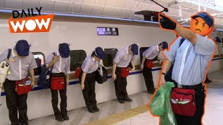 Fast cleaning level: Japan. Insanely fast train cleaning