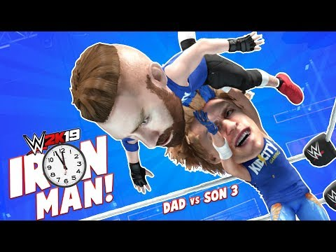 IRON MAN Match Dad vs SON WWE 2k19 Challenge 3 KIDCITY GAMING