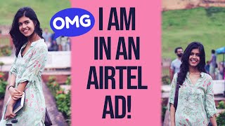 Acting in an Airtel Ad| Sejal Kumar