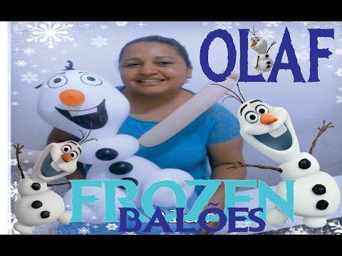 Como fazer OLAF de Balões Filme FROZEN