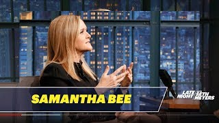 Samantha Bee Carved a Message into John Oliver