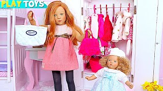 Petitcollin Baby Doll Bunk Bed and Doll Dress up in Pink Bedroom! 🎀