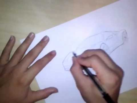 Como Desenhar ferrari 458 Italia Passo a Passo 1 3