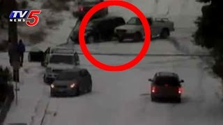 Cars Sliding on Icy Roads After a Huge Snow Storm in USA   TV5 News
