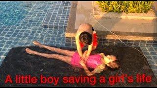 Episode 11: Skit - A boy lifeguard saving a girl's life
