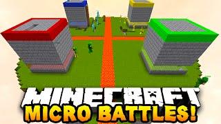 """Minecraft MICRO BATTLES """"SKY PRANK!"""" #22 - w/ PrestonPlayz & Kenny"""