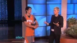 Ellen Meets the Human Basketball!