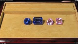 Synthetic Cut Stones Pink Sapphire and Blue Spinel