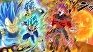 PURE SAIYAN LEAD! SSBE VEGETA & JIREN DOKKAN AWAKEN + SUPER ATTACKS! Dragon Ball Z Dokkan Battle