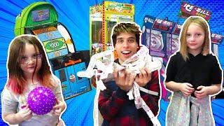 Won Arcade Tickets, Claw Machines & Prizes for My Cousins!