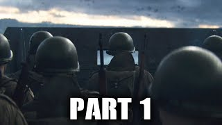 Call of Duty WW2 Gameplay Walkthrough Part 1 - D-DAY (COD WWII Campaign) Full Game