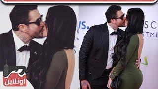 قبلة ساخنة بين احمد الفيشاوي وزوجته الجديدة بمهرجان الجونة وذهول من الحاضرين