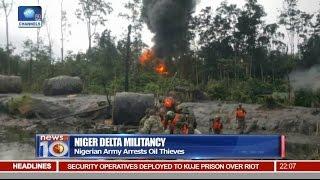News@10: Nigerian Army Arrests Oil Thieves In Niger Delta 29/08/16 Pt 1