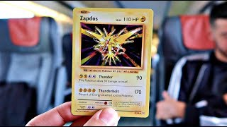 LEGENDARY POKEMON CARD CHALLENGE ON A TRAIN!!! (I WAS SO NERVOUS)