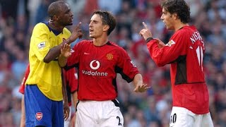 The dirty side of Rivalry Manchester United vs Arsenal - Fights, Fouls & Red cards | Part 1 HD