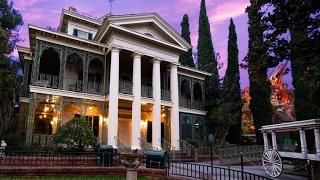 [4K] 2017 Haunted Mansion ride (Extreme Low Light): Disneyland Park - Haunted Dark ride Attraction