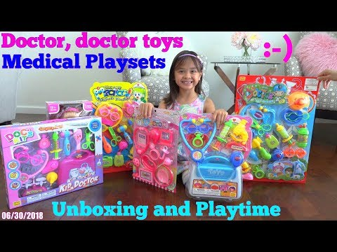 Xxx Mp4 Kids Medical Doctor Pretend Playtime With Hulyan And Maya Doctor S Equipment Playsets Unboxing 3gp Sex