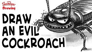 How to draw an evil cockroach - illustration technique