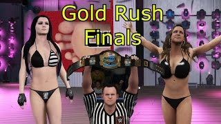 Stephanie McMahon vs. Paige  - Gold Rush Finals | Sexy WWE2K16 barefoot Match