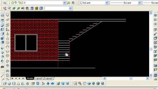 6.3 AutoCAD  boundary hatch elevation stairs in Urdu/Hindi Tutorial