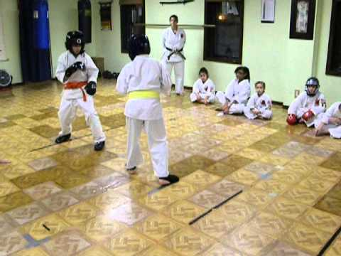 Students Sparring at Throgs Neck Shotokan Karate - Do