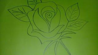 গোলাপ আঁকা/Rose drawing for kids.