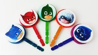 Learn Colors for Kids Pj Masks Lollipops Finger Family Nursery Rhymes Songs for children