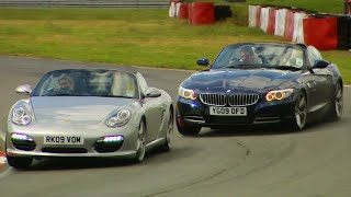 BMW Z4 vs. Porsche Boxster S #TBT - Fifth Gear