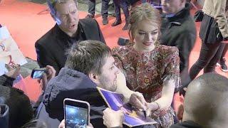 Emma Stone at the La La Land Premiere in Paris